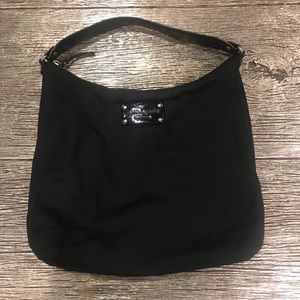Kate Spade Nylon Black Tote Bag w/Metal Hardware